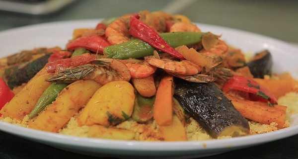 Couscous au poisson et aux crevettes