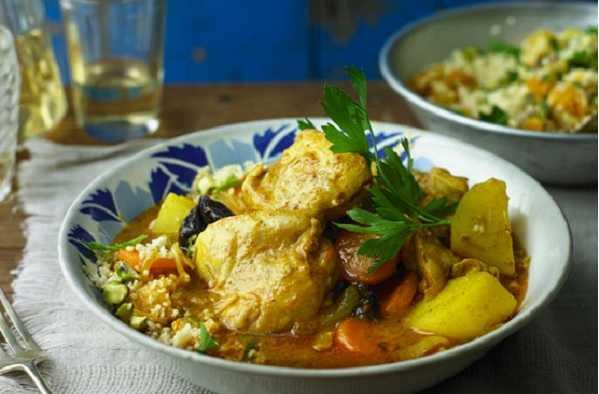 Couscous au poulet et pruneaux