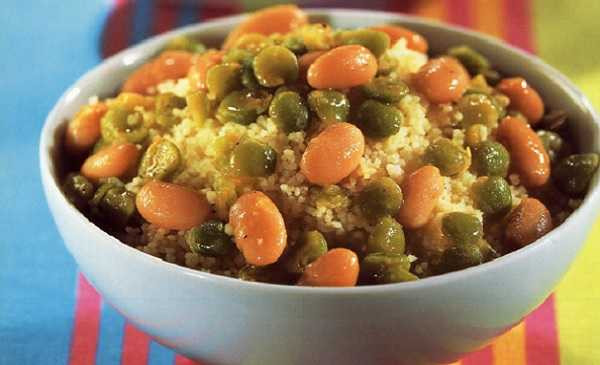 Couscous berbère aux légumes secs