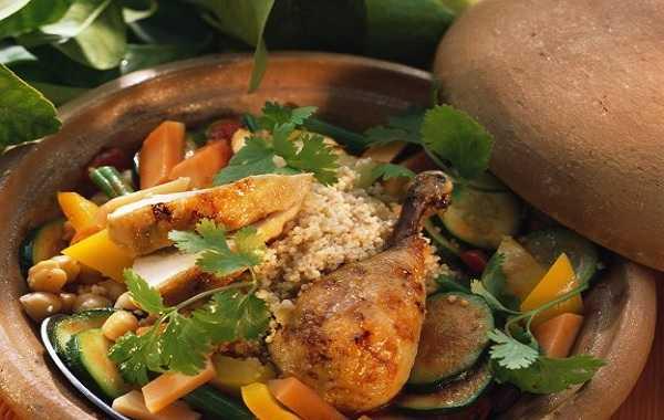 Couscous de poulet au safran