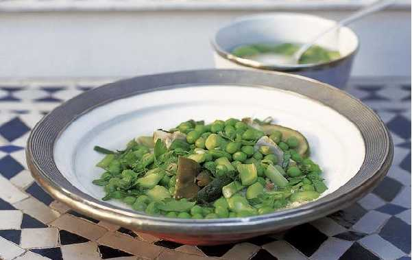 Couscous vegetarien aux légumes verts