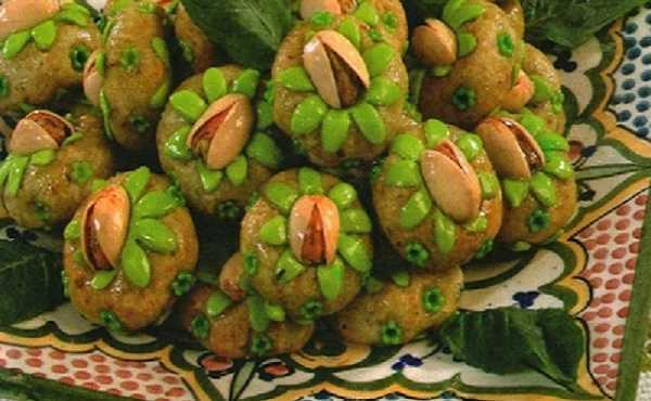 Gâteaux d'amande et de pistache