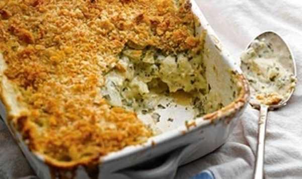 Gratin de pâtes au poisson et légumes