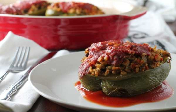 Poivrons farcis sauce tomate