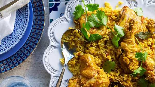 Poulet au riz et légumes