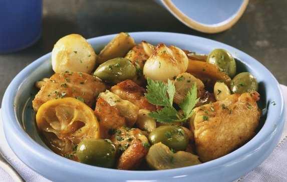 Poulet aux olives et au citron