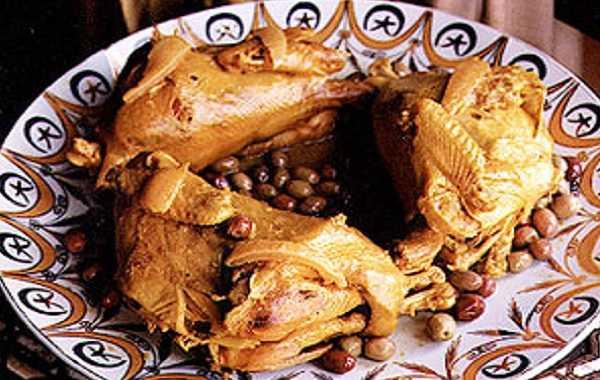 Poulet roti aux olives et citron