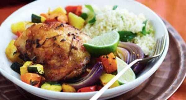 Poulet rôti aux petits légumes