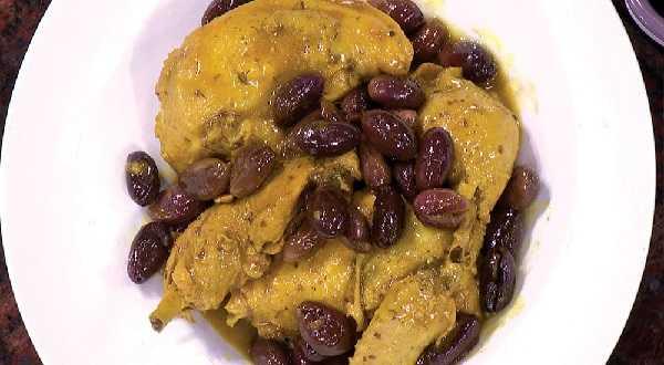 Ragoût de poulet aux olives