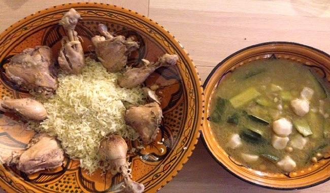 Rechta(nouilles au poulet)