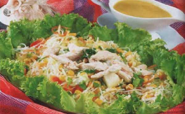 Salade composée au poulet