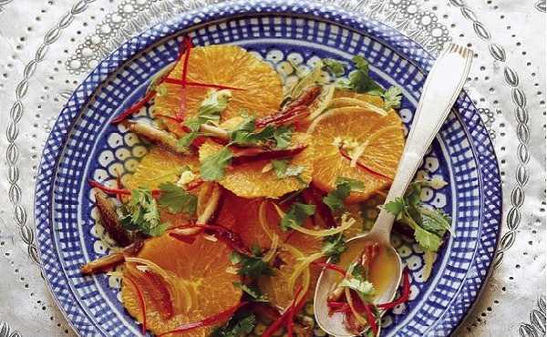 Salade d'oranges et de dattes