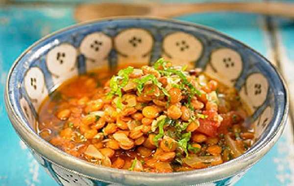 Salade de lentilles à la marocaine