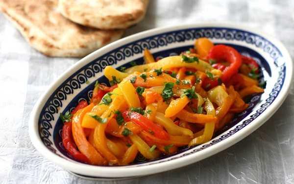 Salade de poivrons marinés à l'huile d'argan