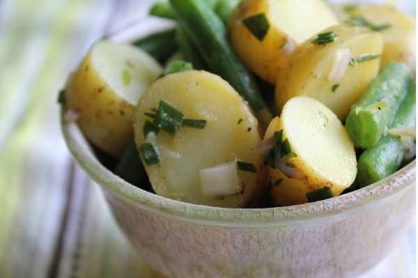 Salade de pommes de terre aux haricots verts