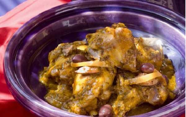 Tagine de poulet aux olives