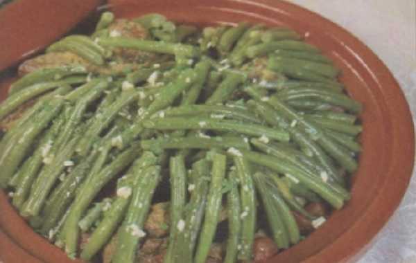 Tajine d'haricots verts