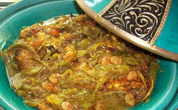 Tajine de merlu aux raisins secs