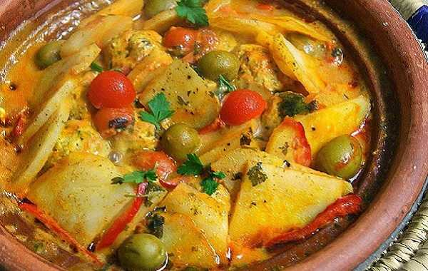 Tajine de mouton aux pommes de terre et olives