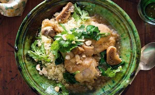 Tajine de poulet aux figues et son couscous