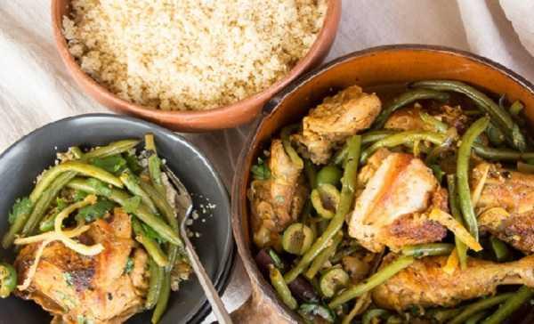 Tajine de poulet aux haricots verts