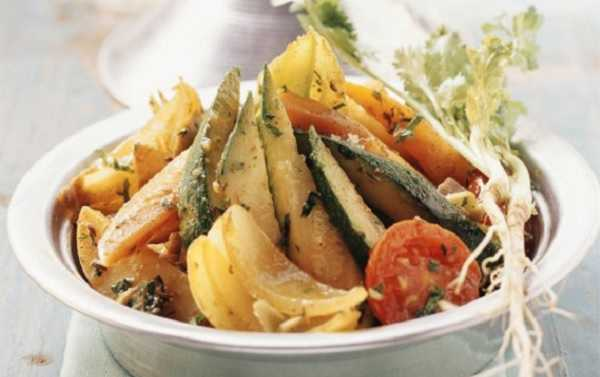 Tajine de poulet épicé aux légumes