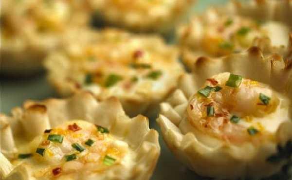 Tartelettes aux crevettes