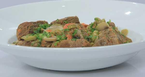 Veau aux champignons et pommes de terre
