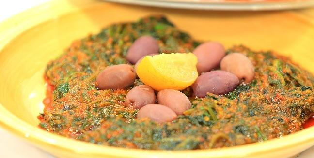 Salade d'épinards à l'huile d'argane