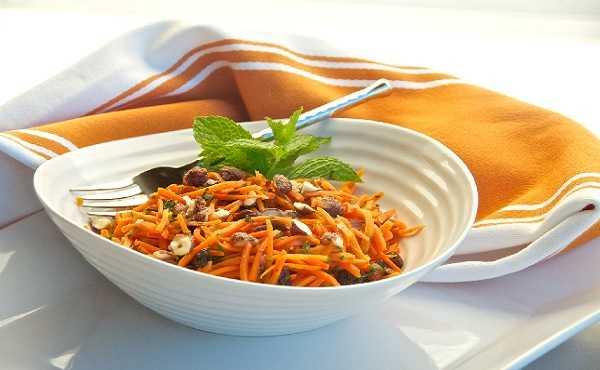 Salade de carottes aux fruits secs