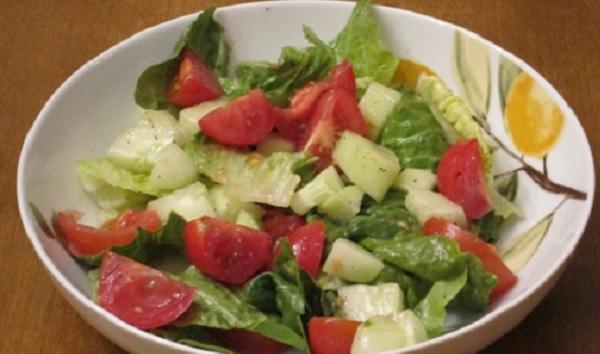 Salade de tomates et de concombre