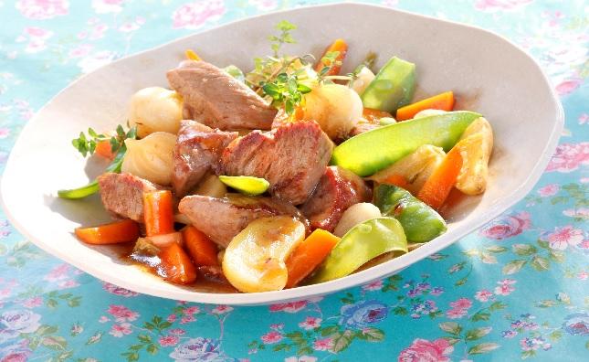 Tajine de jarret de boeuf aux petits légumes
