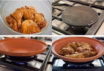 Tajine de poulet aux olives et au citron confit 1