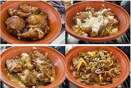 Tajine de poulet aux olives et au citron confit 2