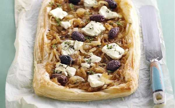 Tarte aux olives et fromage