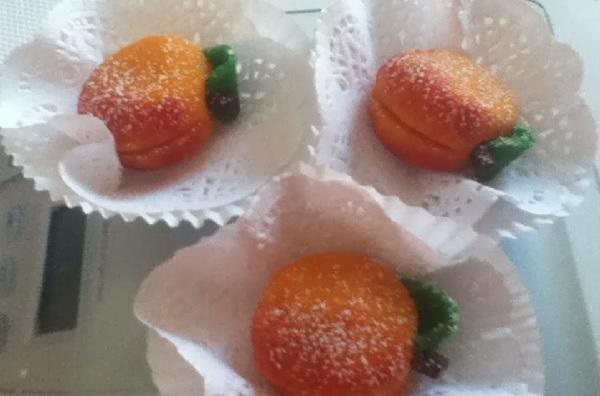 Abricots en pâte d'amandes