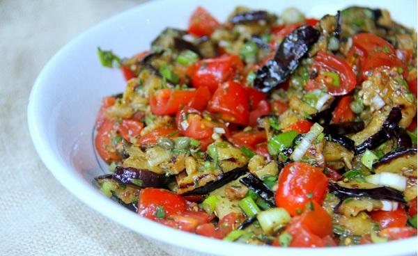 Aubergines en salade