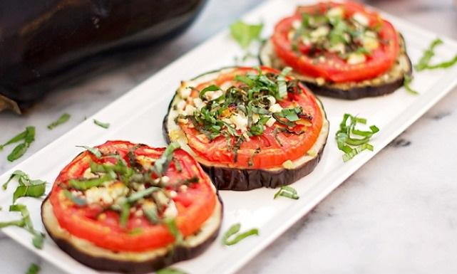 Aubergines et tomates frites