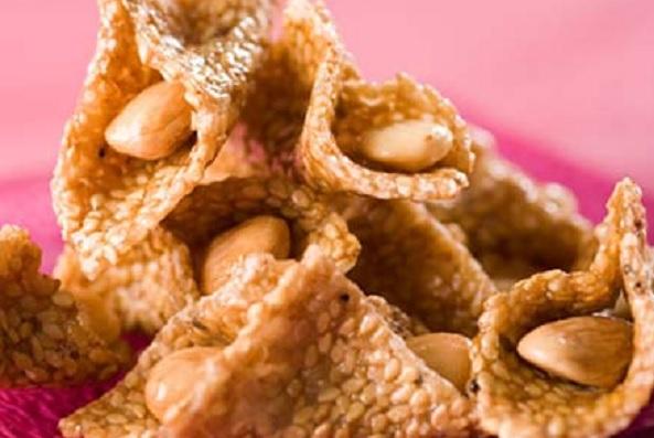 Babouches au sésame et miel
