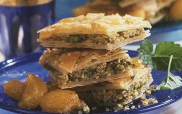 Baklava aux figues et pistaches