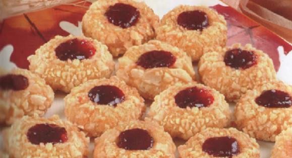 Biscuits sablés aux amandes et confiture