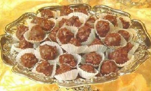 Boules d'amandes au chocolat