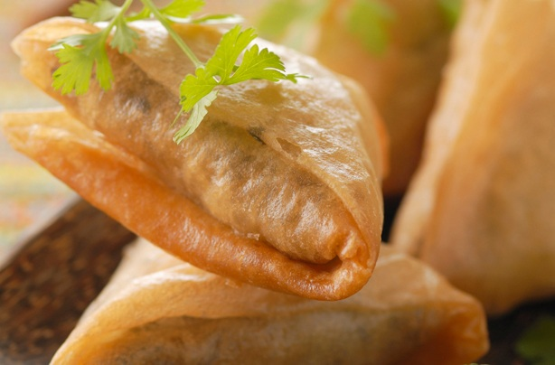 Briouates au thon et crevettes