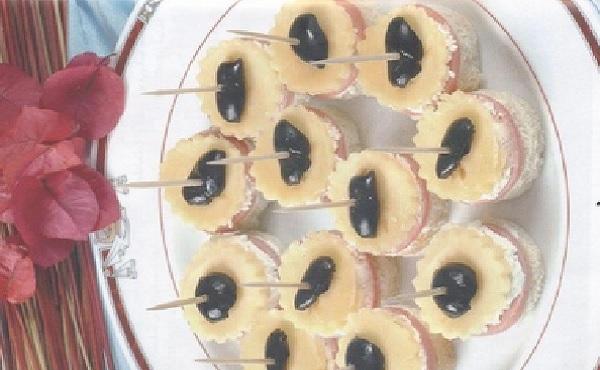 Canap s au fromage et au jambon cuisine marocaine for Canape au fromage