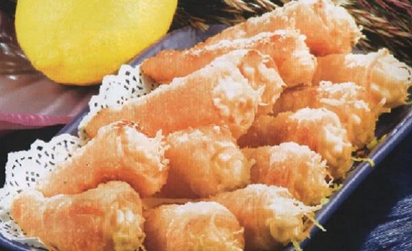 Cornets feuilletés à la crème