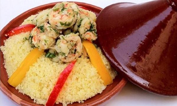 Couscous aux crevettes et aux légumes