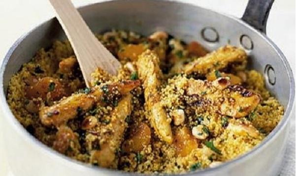 Couscous épicé au poulet et amandes