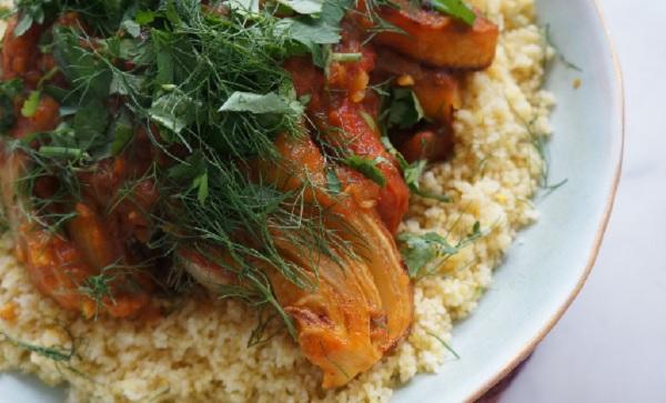 Couscous végétarien aux verts de fenouil(farfoucha)