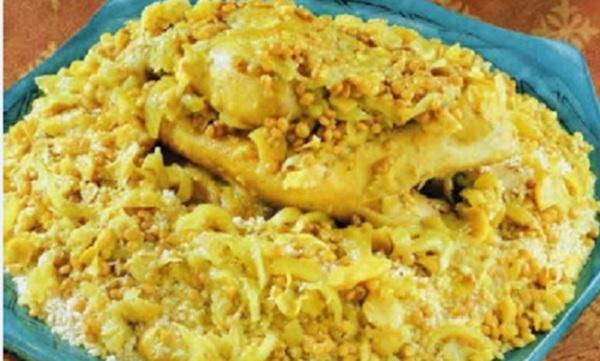 Couscous au poulet et lentilles