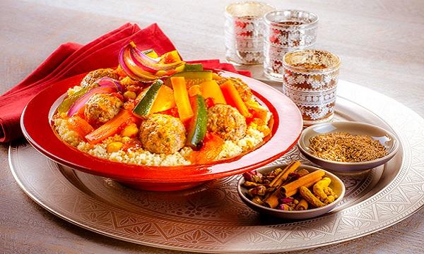 Couscous Tunisien au poulet et aux boulettes